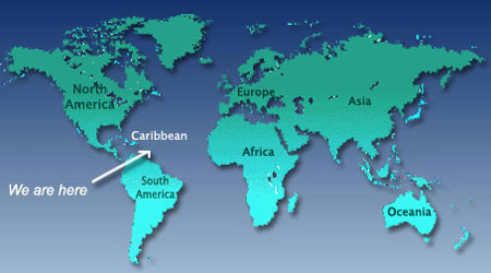 World Map Location Of St Barts Barth Barthelemy
